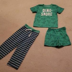 🦖Carter's Toddler Boy 4T 3PC Pajama Set